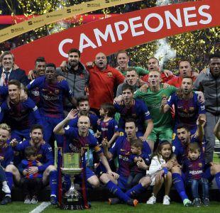Barcelona gana la Copa del Rey tras golear 5-0 al Sevilla