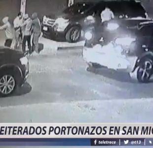 [VIDEO] Reiterados portonazos en las calles de San Miguel