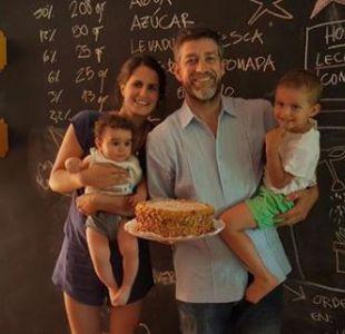 Felipe Braun y Sofía Schmidt junto a sus hijos