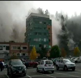 [VIDEO] Las dudas tras la explosión en el Sanatorio Alemán de Concepción