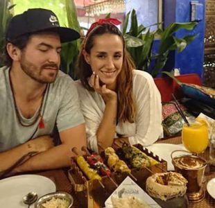 Isidora Urrejola junto a su pareja, el fotógrafo Francisco Herrera