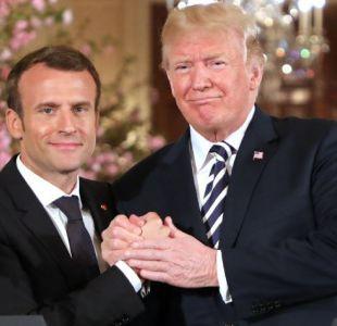 [VIDEO] El nuevo gesto de Macron a Trump que alimenta el bromance entre los mandatarios