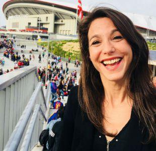 [VIDEO] La ira de periodista francesa al ser acosada por hinchas de FC Barcelona