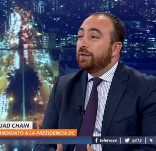 [VIDEO] Fuad Chahín y crisis de la DC: Esta es una crisis general de todos los partidos