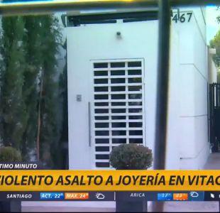 [VIDEO] Sujetos asaltan joyería en Vitacura y se dan a la fuga en auto de lujo