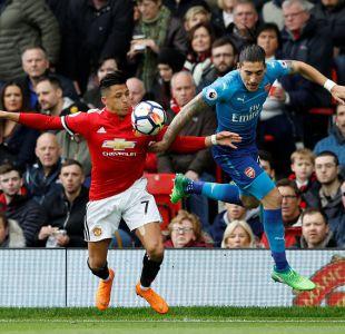 Alexis Sánchez jugó los 90' en el agónico triunfo 2-1 del United frente al Arsenal