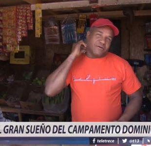 [VIDEO] Campamento dominicano en Colina celebra medida de regularización de inmigrantes