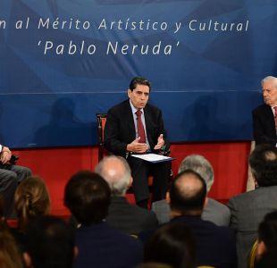 [VIDEO] El momento en que el temblor sorprendió a Piñera y Vargas Llosa en La Moneda