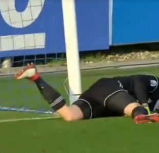 [VIDEO] Arquero rompe pórtico tras evitar gol de equipo rival