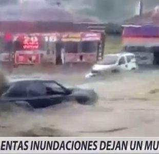 [VIDEO] Violentas inundaciones en Turquía dejan un muerto