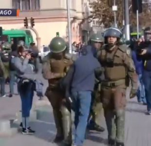 [VIDEO] Se registran incidentes en la Alameda por marcha no autorizada de estudiantes secundarios