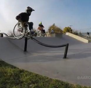 [VIDEO] Deporte extremo en silla de ruedas: los increíbles trucos de Aaron Fotheringham