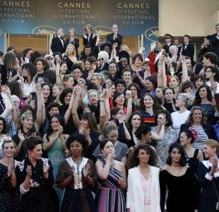 La histórica protesta de estrellas femeninas en la alfombra roja de Cannes