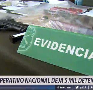 [VIDEO] Operativo nacional deja récord de 5 mil detenidos