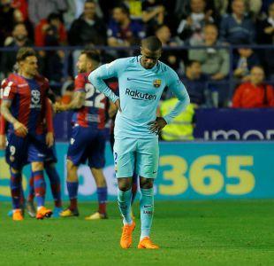 """Barcelona pierde su imbatibilidad luego de caer contra el Levante en """"guerra de goles"""""""