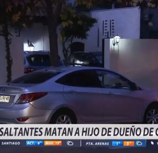 [VIDEO] Delincuentes matan a joven que intentaba repeler un asalto en Lo Barnechea