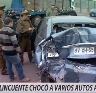 [VIDEO] Cinematográfica persecución a camión robado terminó con colisión múltiple