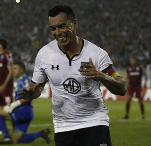 [VIDEO] Colo Colo festeja el cumpleaños de Esteban Paredes con sus goles ante el rival