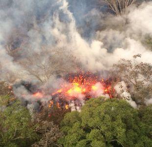 [VIDEO] Explosión con enormes rocas se registra en volcán Kilauea de Hawái