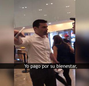 [VIDEO] Polémica racial en EE.UU: los atacó porque hablaban español