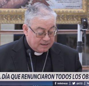 El día que renunciaron todos los obispos