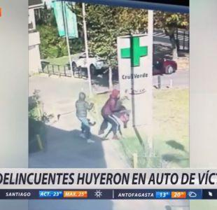 [VIDEO] Registro captó a delincuentes golpeando a mujer para asaltarla en Vitacura