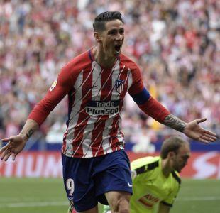 Fernando Torres anota dos goles en su último partido con el Atlético de Madrid
