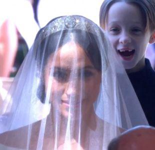 [VIDEO] La expresiva reacción de un niño al ver a Meghan Markle en la boda real
