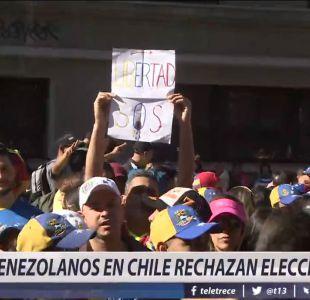 [VIDEO] Venezolanos en Chile rechazan elecciones