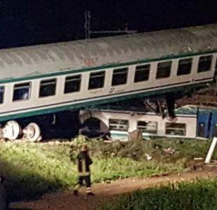 Dos muertos y varios heridos en descarrilamiento de un tren en Italia