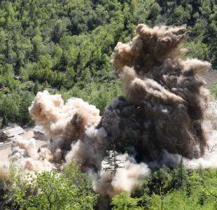 [VIDEO] El registro del histórico desmantelamiento del centro de pruebas nucleares norcoreanas
