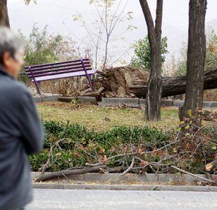 [VIDEO] ¿Lloverá con viento esta tarde en Santiago?