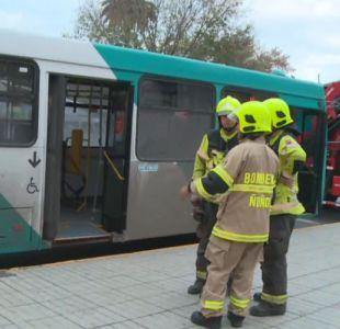 Mujer de tercera edad fue atropellada por un bus del Transantiago en Ñuñoa