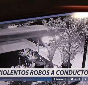[VIDEO] Violento robo a conductores: Delincuentes simulaban ser pasajeros