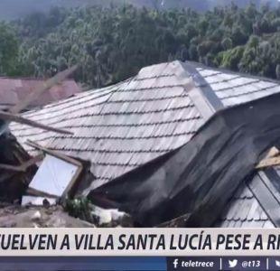 [VIDEO] Vuelven familias a Villa Santa Lucía luego de aluviones