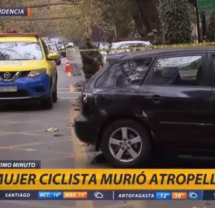 Mujer de 28 años muere tras ser atropellada en ciclovía de Providencia