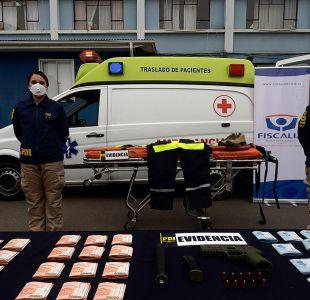 Valparaíso: Detienen a banda que transportaba cocaína en ambulancia
