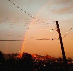 Las imágenes del arcoíris doble que se pudo observar en distintos puntos de Valparaíso