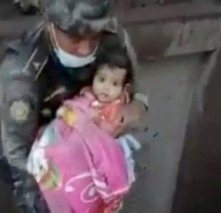 Erupción de volcán en Guatemala: el rescate de niña sobreviviente que es viral en internet