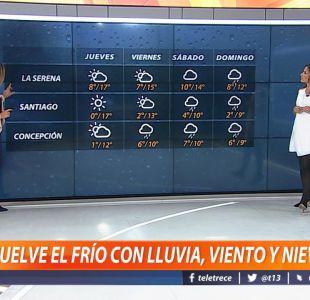 [VIDEO] ¿Podría caer nieve en Santiago? Revisa el informe del tiempo de Michelle Adam