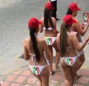 Las mujeres en bikini y otras noticias falsas de las elecciones de México