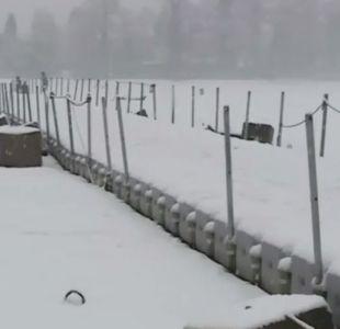 [VIDEO] Nieve cubre el lago Caburgua en la región de La Araucanía