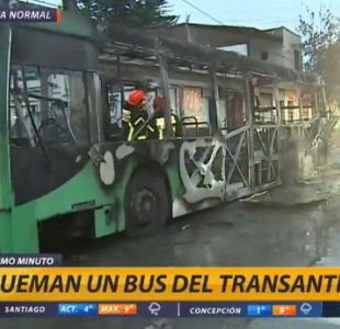[VIDEO] Queman bus del Transantiago en Quinta Normal