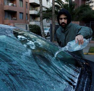 Frío bajo cero en Santiago