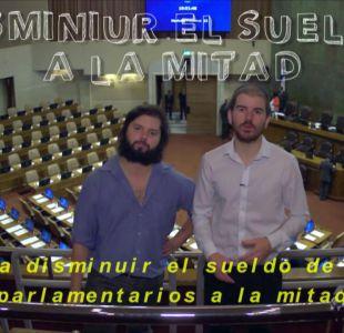 [VIDEO] Se reactiva iniciativa que busca bajar el sueldo de los parlamentarios