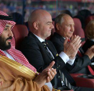 [VIDEO] El gesto de Vladimir Putin al jeque de Arabia Saudita luego del primer gol de Rusia