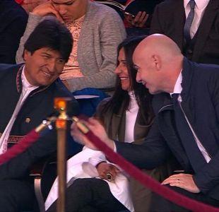 [VIDEO] Polémica presencia de Evo Morales en el Mundial