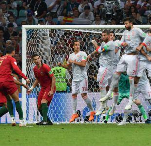 [VIDEO] Primer Hat-trick en Rusia: El espectacular tiro libre de Cristiano Ronaldo ante España