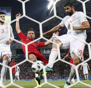 [VIDEO] Diego Costa repite y anota el 2-2 entre España y Portugal