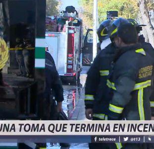 [VIDEO] Una toma que terminó en incendio